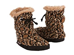 Animal Print Slipper Boots