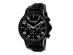 No 8 Round Chronograph Black Dial Watch