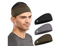 Ignitex Men's Sweat Headbands 3 Pack