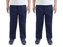 AG Boys Flat Front Uniform Pants 2-Pack