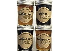 Potlicker Kitchen Beer Jelly Sampler (4)