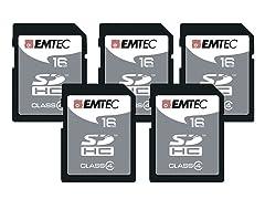 Emtec SDHC Class 4 Memory Cards - 10pk