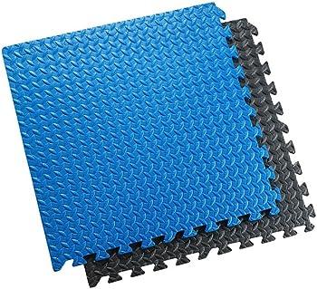 Sivan Interlocking Rubber Gym Tile Puzzle Exercise Mat