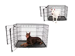 Carlson Heavy-Duty Two Door Wire Crates - 2 Sizes