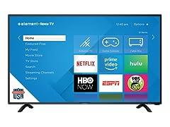"Element 40"" Class 4K UHD LED Roku Smart TV HDR"