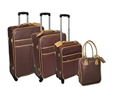 Safiano 4pc Set-Brown