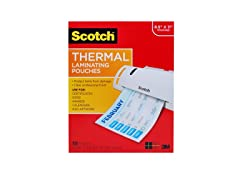 Scotch Thermal Laminating Pouches- 100PK