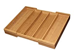 Totally Bamboo Expandable Cutlery Tray