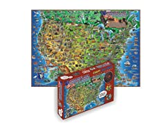 500 Piece Illustrated USA Map Puzzle
