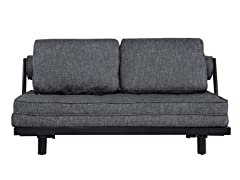 Basilica Convertible Euro Sofa - Gray