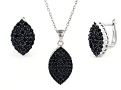 Sterling Silver Black Set