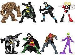 """BATMAN 2"""" Scale 8PK of Mini Action Figures"""