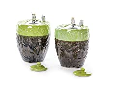 Comedia Oil Fire Burner with Lid and Wick, 2-Pack