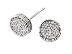 18kt Plated RoundBox CZ Earrings