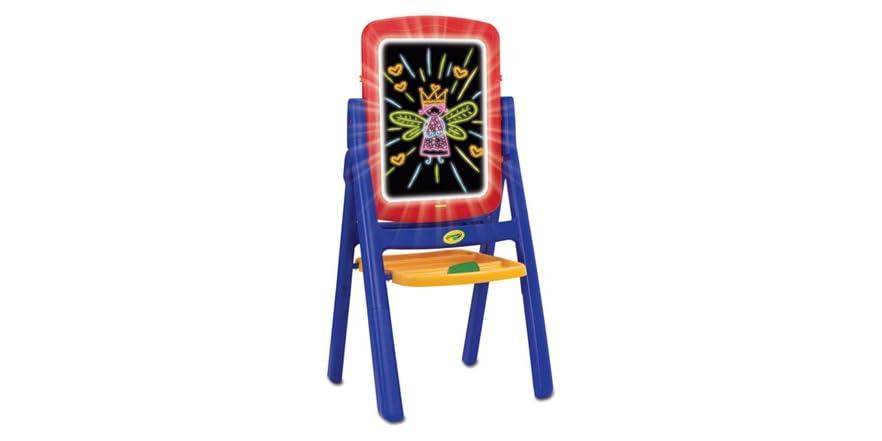 Crayola Qwikflip Glow Easel Kids Amp Toys