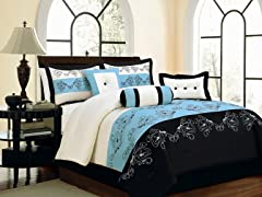 Lilly 7pc Comforter Set - Blue - 2 Sizes