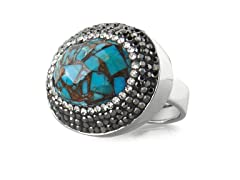 18K Plated Turquoise & Copper Ring