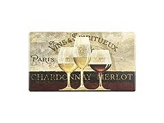 Parisian Wine Window Mat