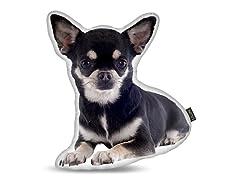 Chihuahua Black Shaped Pillow