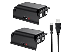 Rechargeable Battery Pack for Xbox One 2 Pk