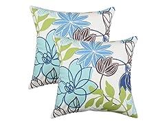 Monaco Breeze 17x17 Pillow-Set of 2