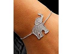 SS Adjustable Elephant Bracelet