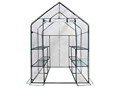Walk-in 3-Tier 12-Shelf Greenhouse