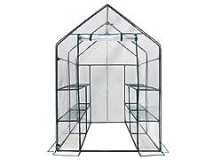 Walk-in 3-Tier 12-Shelf Greenhouse