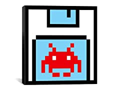 Floppy Invader Pixel Art 18x18 Thin