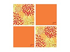 Fiesta Tangerine Warm Calypso Coasters