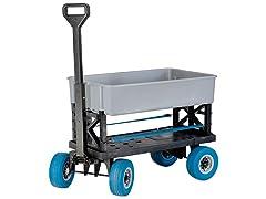 Weatherproof All Terrain Cart, Silver/Blue