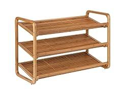 Honey-Can-Do Deluxe Bamboo Shoe Shelf