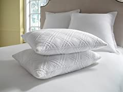 Pure Rest™ Quilted Memory Foam Pillow - Jumbo Set of 2