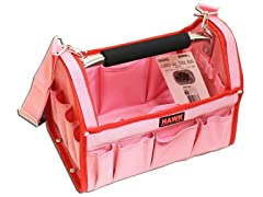 Pink Tool Carry-All With Red Trim