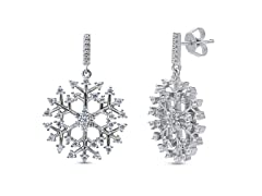 Snowflake Crystal Drop Earrings