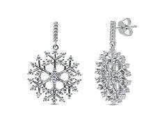 Snowflake Crystal Drop Earrings
