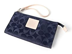 Coach Legacy Weekend Nylon Zippy Wallet, Navy