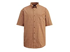 Barton Cotton Button-Down Shirt, Orange