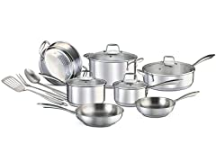 Chef's Star Stainless Steel 14-pc Cookware Set