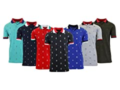 3PK ASST Men's S/S Printed Polos