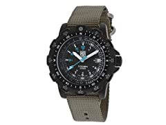 Men's Recon Black w/ Gray Nylon Band