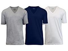 Mens Cotton V-Neck Undershirt 3PK