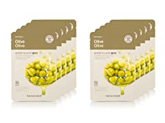 Real Nature Olive Face Mask - 10 Pack
