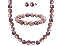 "SS ""Shades of Plum"" Shell Pearl 3-Piece Set"