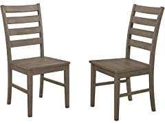 WE Furniture Modern Wood Dining Chairs