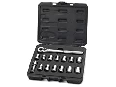 "15-Piece 1/2"" Drive SAE/MM Socket Set"
