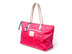 Coach Legacy Weekend Signature E/W Tote, Pink
