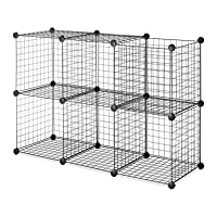 Deals on 6-Pk Whitmor Storage Cubes Stackable Interlocking Wire Shelves