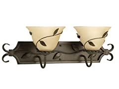 2-Light Bath Bracket, Forged Bronze