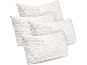 4-Pack Bamboo Memory Foam Pillow